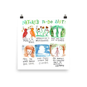 Nature's To-Do List