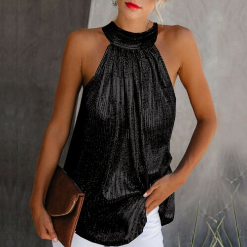 High Neck Vest Loose Blouse Top