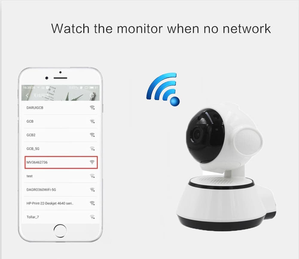Wifi IP 720P CCTV Security CCTV Smart Home Security Ir Camera