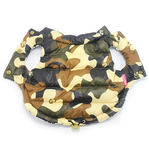 Double-sided Wear Dog Clothes Winter Pet Warm Vest Camouflage Jacket Clothing Coat For Puppy Small Dogs Pets Chihuahua Bulldog L | nezzypuppers