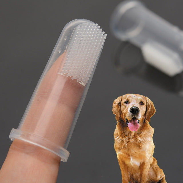 New Rubber Pet Finger Toothbrush Dog Toys Environmental Protection Silicone Glove for Dogs and Cats Clean Teeth Pet Supplies | nezzypuppers