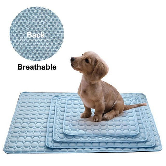 Dog Mat Cooling Summer Pad Mat For Dogs Cat Blanket Sofa Breathable Pet Dog Bed Summer Washable For Small Medium Large Dogs Car | nezzypuppers