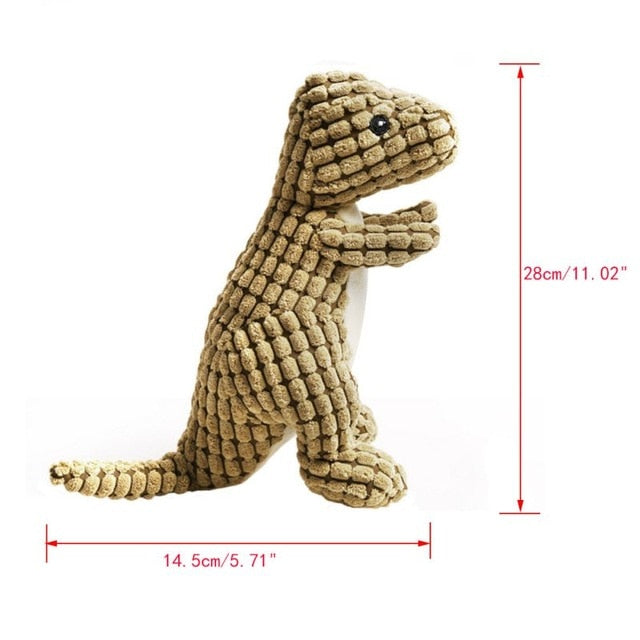 Pet Dinosaur Shape Plush Chew Molar Squeaky Toys for Dogs Puppy Toys to Clean the Teeth | nezzypuppers