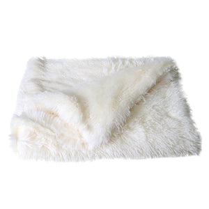 Fluffy Long Plush Pet Blankets Dog Cat Bed Mats Deep Sleeping Soft Thin Covers for Summer Winter Bed Use Blankets Cat Mattress | nezzypuppers