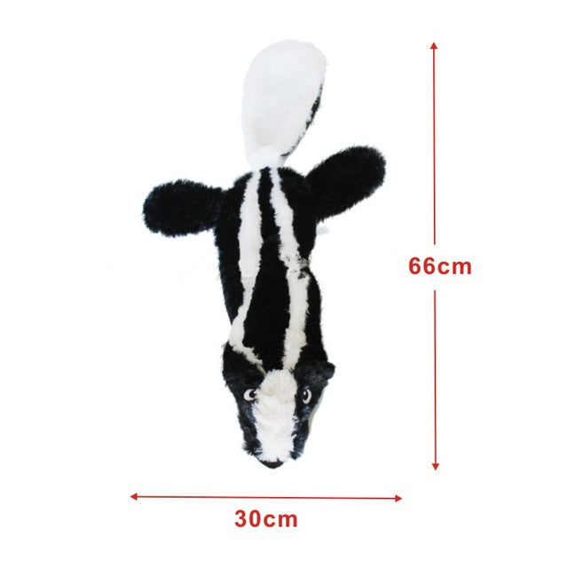 ANSINPARK cute plush toys squeak pet Wolf rabbit stuffed animal dog chew whistle squeaky wrapped squirrel dog toys p999 | nezzypuppers