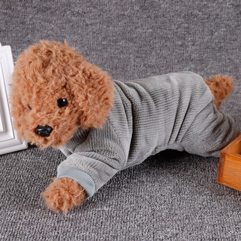 Dog Pajamas Pet Clothes Clothing Puppy Coat Cat Shirt Jumpsuit Apparel Costume Pet Casual Home Wear Clothes | nezzypuppers