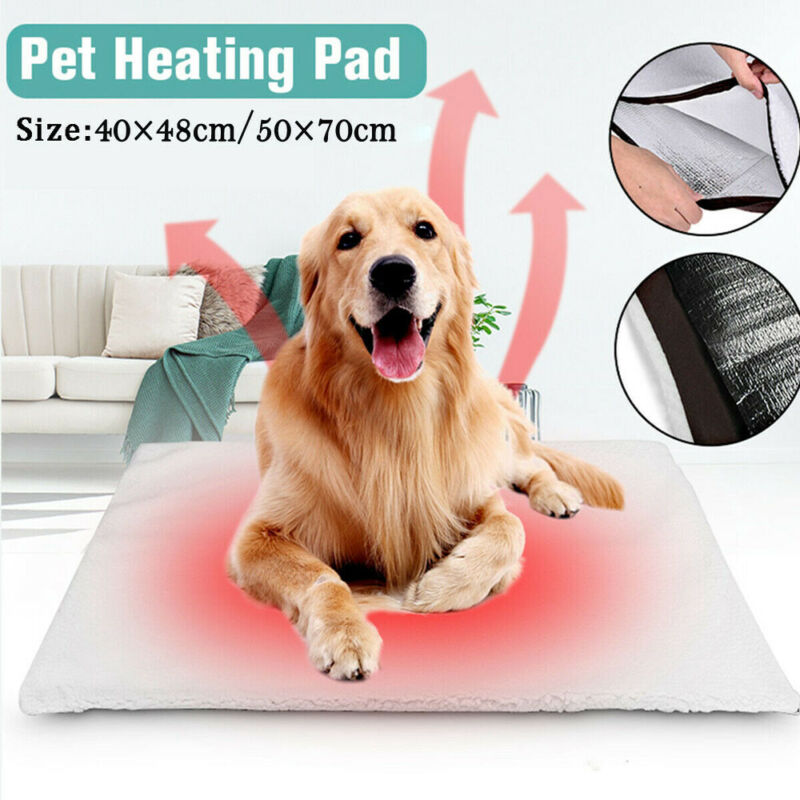 Winter Self Heating Thermal Pet Bed Cushion Heated Mat Dog Cat Washable Super Warm Rug Washable Pillow | nezzypuppers