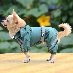 ly Dog Raincoat Waterproof Rain Coat Clothes for Dogs Outdoor Walking Pets Rainy Wearing Clothing Hoodie Apparel | nezzypuppers