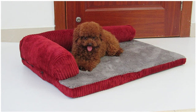 Luxury Large Dog Bed Sofa Dog Cat Pet Cushion For Big Dogs Washable Nest Cat Teddy Puppy Mat Kennel Square Pillow Pet House | nezzypuppers