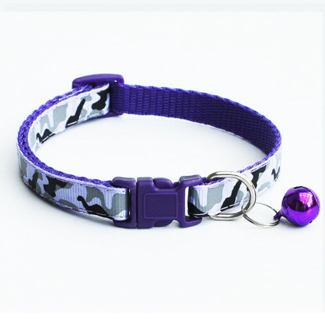Delicate Safety Casual Nylon Dog Collar Neck Strap Fashion Adjustable Camo Bell Pet Dog Collar Hot Sale | nezzypuppers
