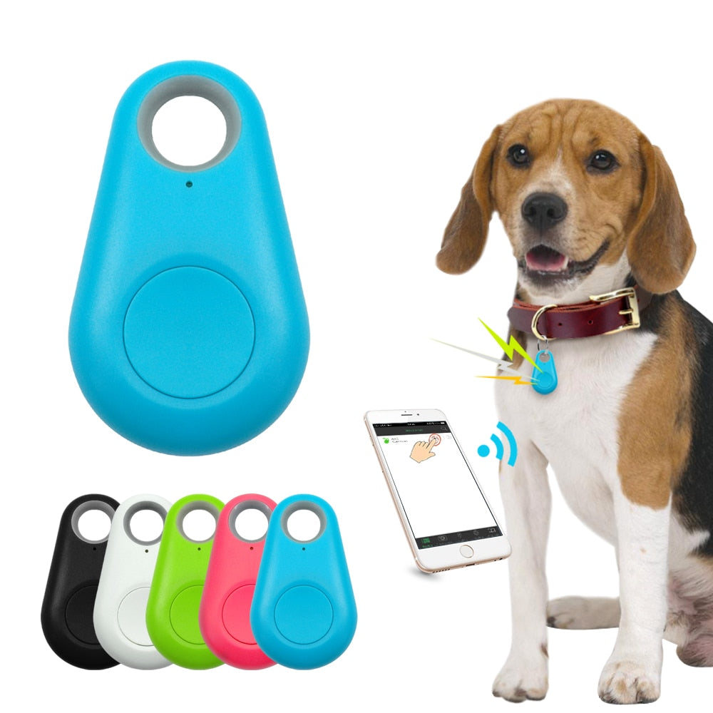 Pet Smart GPS Tracker Mini Anti-Lost Waterproof Bluetooth Locator Tracer For Pet Dog Cat Kids Car Wallet Key Collar Accessories
