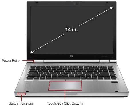 "HP EliteBook 8470p - 14"" - Core i5 3320M - Windows 7 Pro 64-bit - 4 GB RAM - 320 GB HDD buy under 200 in UK"