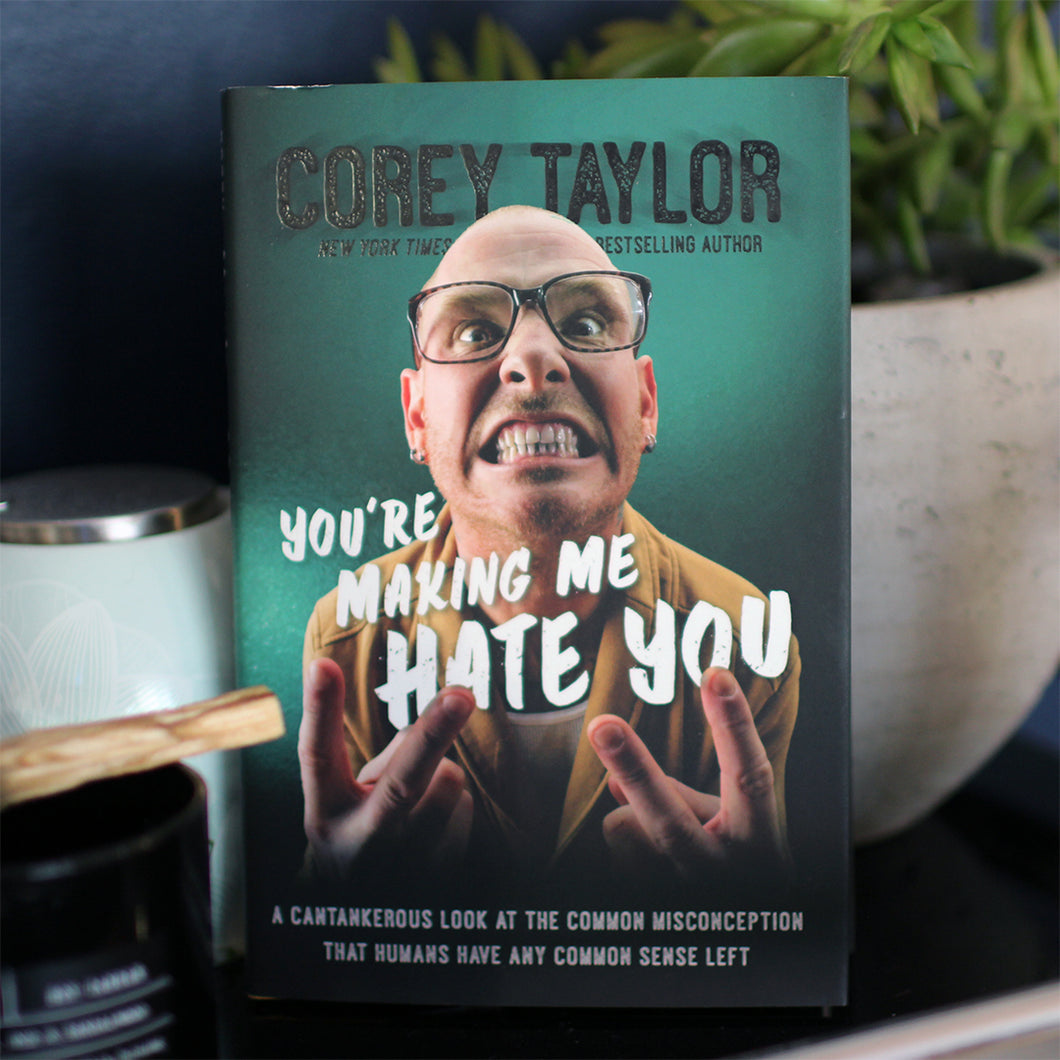 Signed 'You're Making Me Hate you' Corey Taylor Book Bundle