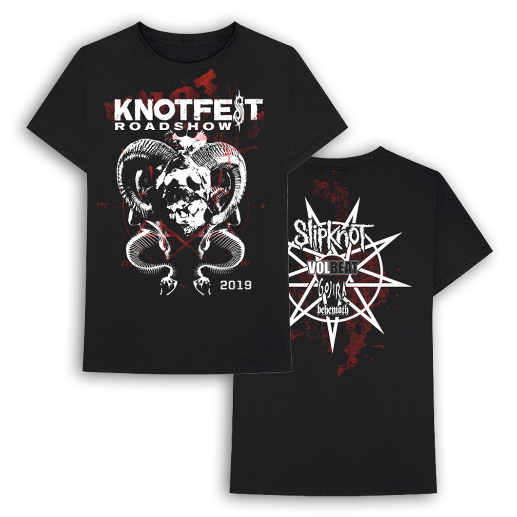 Knotfest Roadshow Horns and Snake Tee
