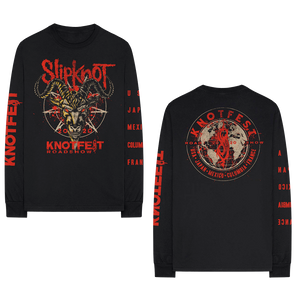Long Sleeve Knotfest Worldwide T-shirt