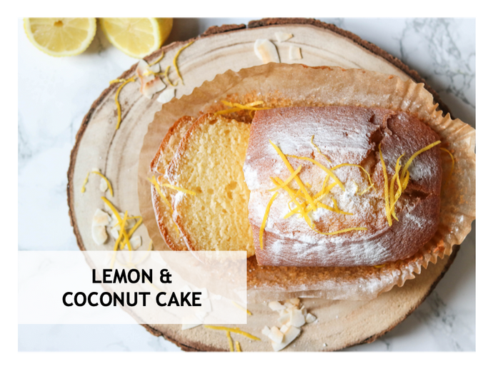 Ellie's delicious lemon & Coconut cake