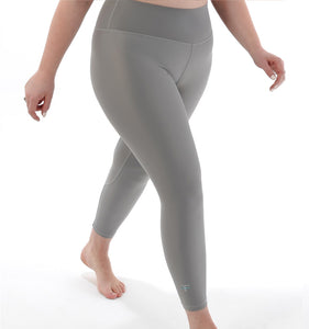 SIGNATURE 7/8 High Waisted Leggings XL / Moon - Grey