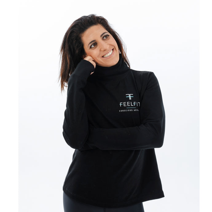 Escape Workout Hoodie Long Sleeve with Zip Up Back