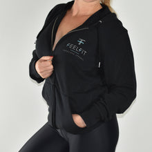 Load image into Gallery viewer, Escape Unisex Sustainable Zip Through Hoodie XL
