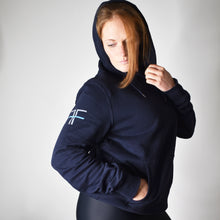 Load image into Gallery viewer, Navy Pull Over 100% Organic Cotton
