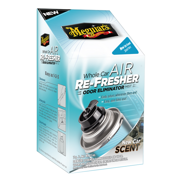 Meguiar's Whole Car Air Re-Fresher Odor Eliminator Mist - New Car Scent