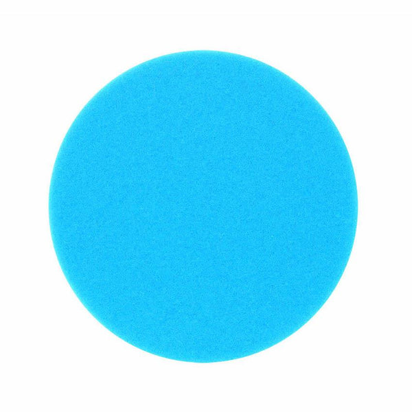 "Buff And Shine 5"" Blue Soft Polishing Flat Faced Foam Pad"