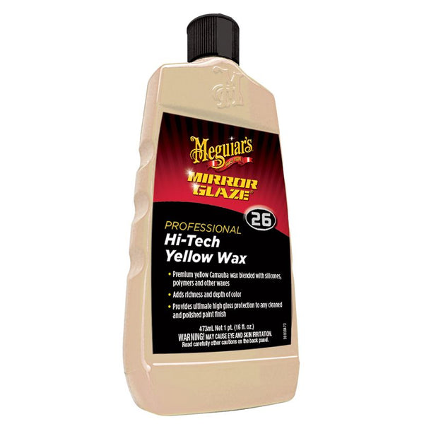 Meguiar's Mirror Glaze Hi-Tech Yellow Wax - 16 oz