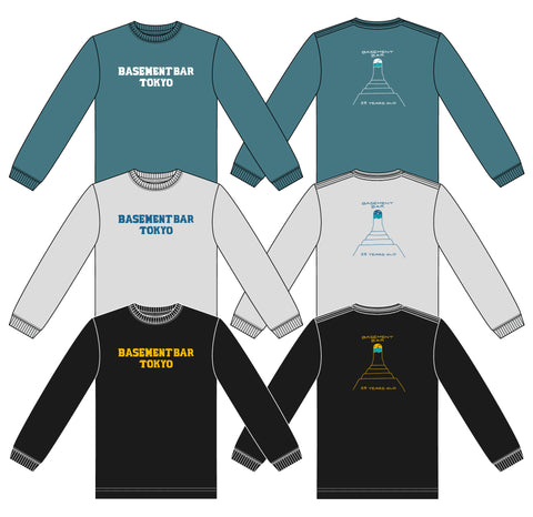 BASEMENTBAR 25th ANNIVERSARY LONG SLEEVE SHIRT