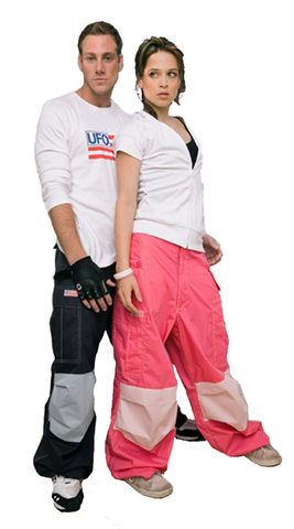 Contrast Knee Wind Pant #82845 Mens
