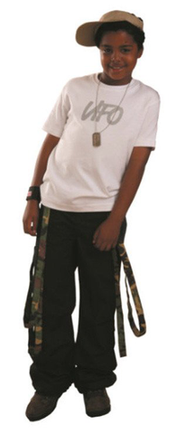 Kid's Wind Pant with Camouflauge Multi Straps #69170
