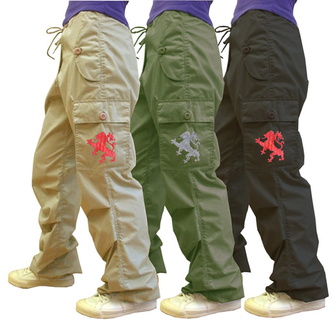 Yoshi Pant with Lion Embroidery on Cargo Pant #91635 Mens
