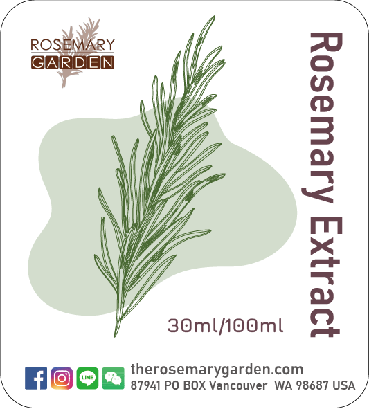 Rosemary Extract  Natural antioxidant 迷迭香萃取物,迷迭香花園 30ml