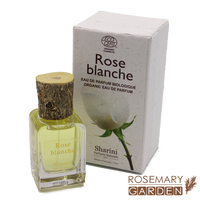 Organic handmade France Natural Perfume , White Rose, Ecocert certified Rosemary Garden