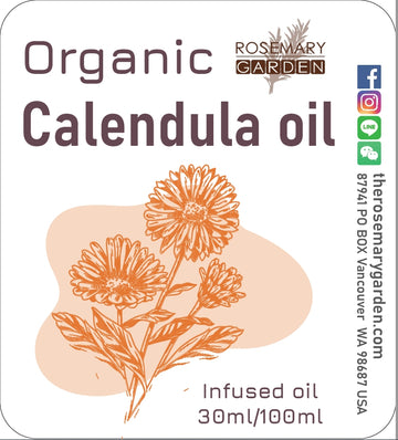 Organic Calendula Infused Oil Rosemary Garden,美國迷迭香花園有機金盞花浸泡油