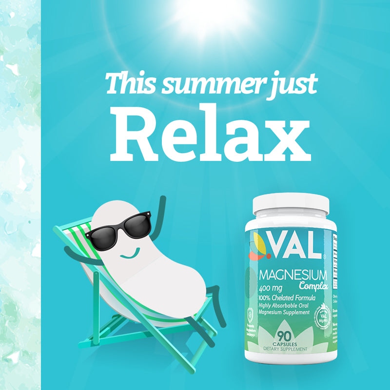 Relax and Boost your Immune System with our Magnesium Capsules this Summer