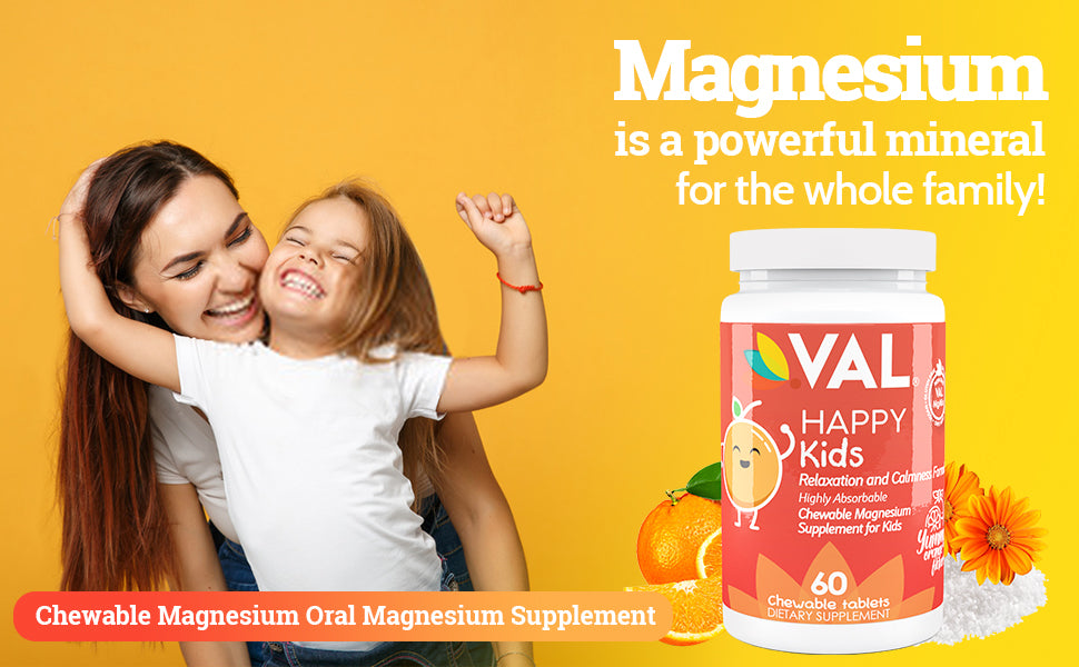 Chewable-Magnesium-Glycinate-Citrate-Taurate-B6-D3-C-Maximum-Absorption-Bioavailability-Relaxation-Calmness-Formula-Kids-No-Laxative-Effect-Non-GMO- Orange-Flavor