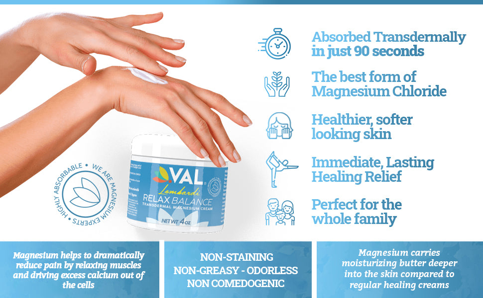 the best magnesium cream chloride pain relief natural pain relief relaxing magnesium