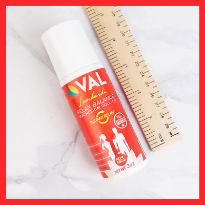 VAL Lombardi Magnesium Roll-On. Instant Relief. Transdermal (Paraben-Free)