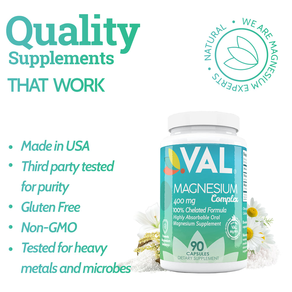 Magnesium Glycinate-Citrate-Taurate-VitaminB6-Maximum Absorption-Bioavailability-Magnesium-Deficiency-Treatment-Stress Relief-Natural-Pain-Relief-Migraines-Muscle Cramps-No-laxative effect-Vegan-Non-GMO