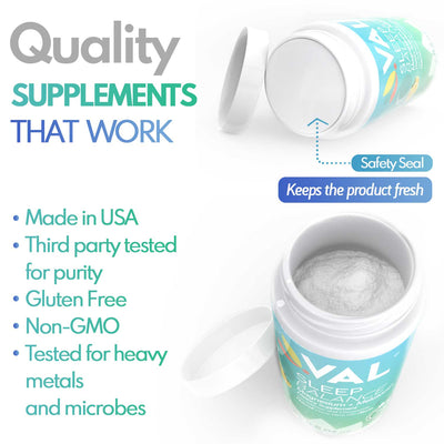 quality supplements that works for better sleep with magnesium  with MELATONIN  and CHAMOMILE for better sleep