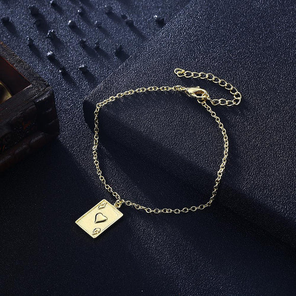 Ace of Hearts Bracelet in 18K Gold Plated