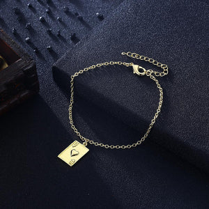 Ten of Hearts Bracelet in 18K Gold Plated