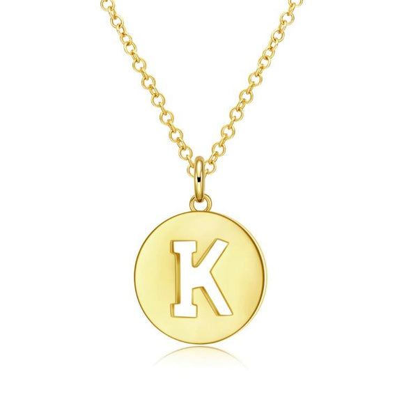 Kindness Disc Necklace in 18K Gold Plated