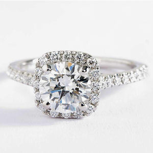 2.00CT Cushion-Cut Queen White Swarovski Elements Ring