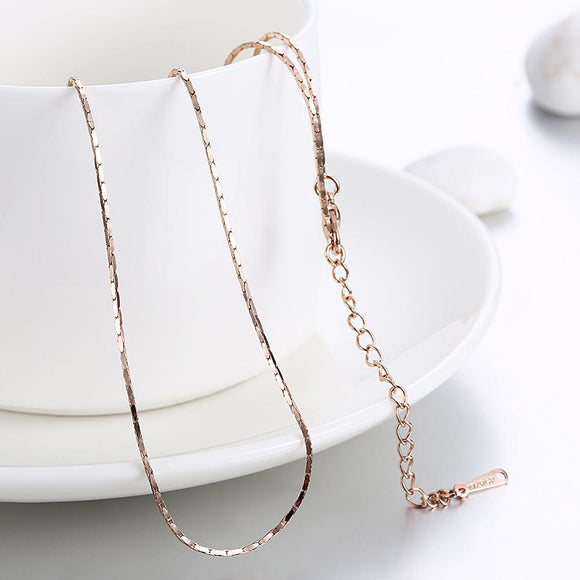 18K Rose Gold Singapore Classic Chain
