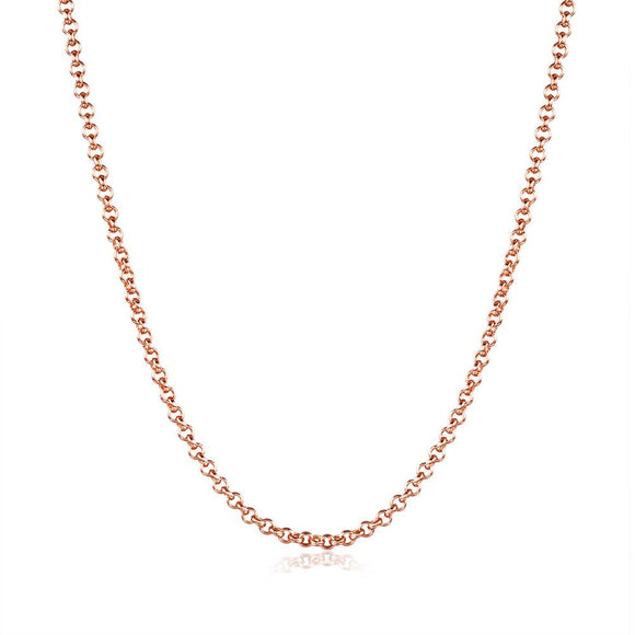 18K Rose Gold Plated Sleek Link Chain Necklace
