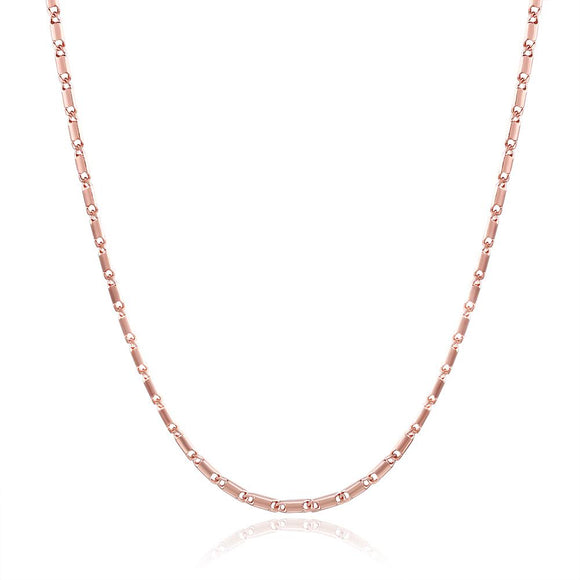 18K Rose Gold Plated Mini Curb Chain Necklace