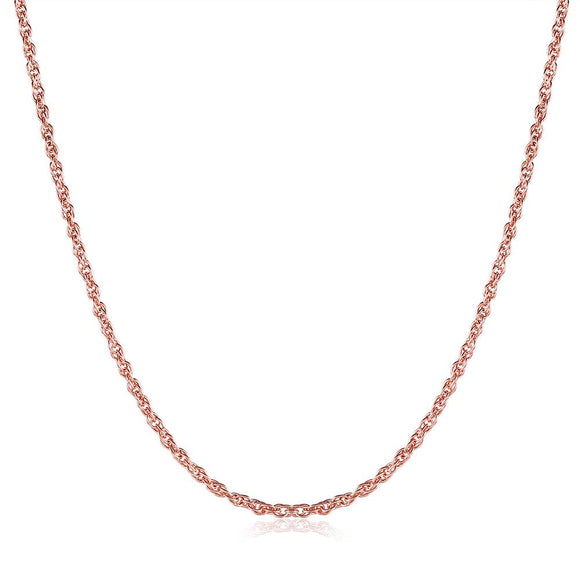 18K Rose Gold Plated Mini Twisted Chain Necklace