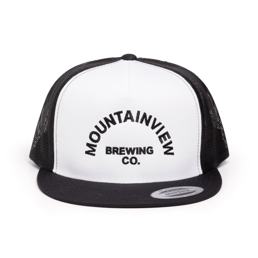 White & Black Logo Hat
