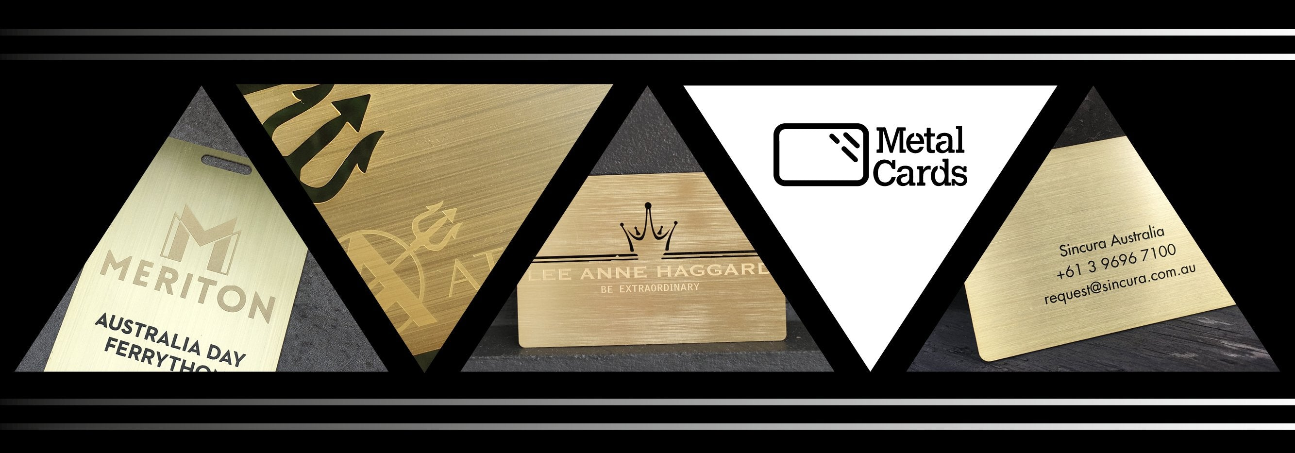 Brushed Gold Plated Metal Business Cards
